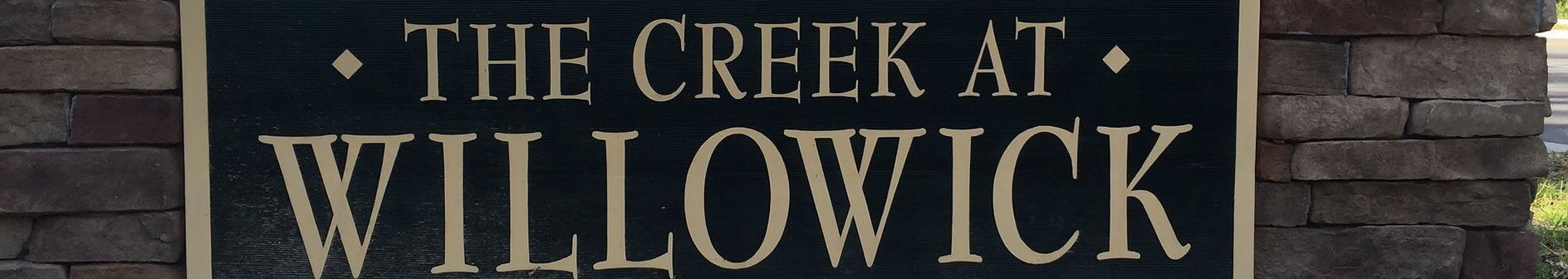 The Creek at Willowick sign in Wilmington