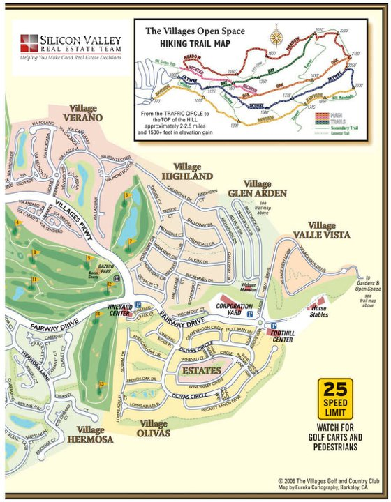 The Villages San Jose Map and Hiking Trails